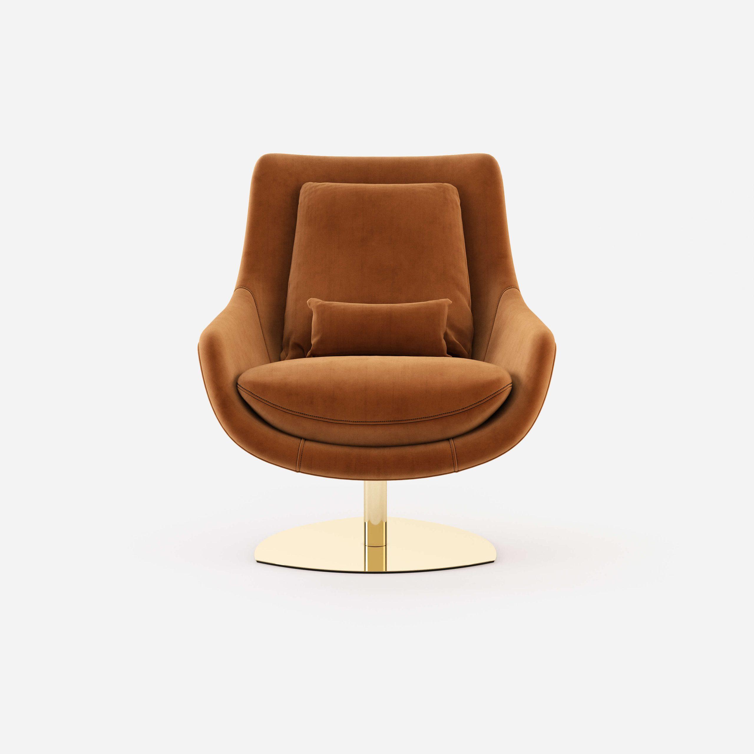 Elba-armchair-cotton-velvet-upholstered-furniture-living-room-interior-design-domkapa-Gold-stainless-steel-1