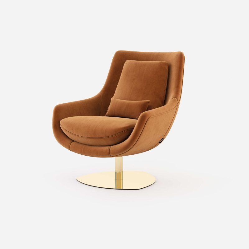 Elba-armchair-cotton-velvet-upholstered-furniture-living-room-interior-design-domkapa-Gold-stainless-steel-2