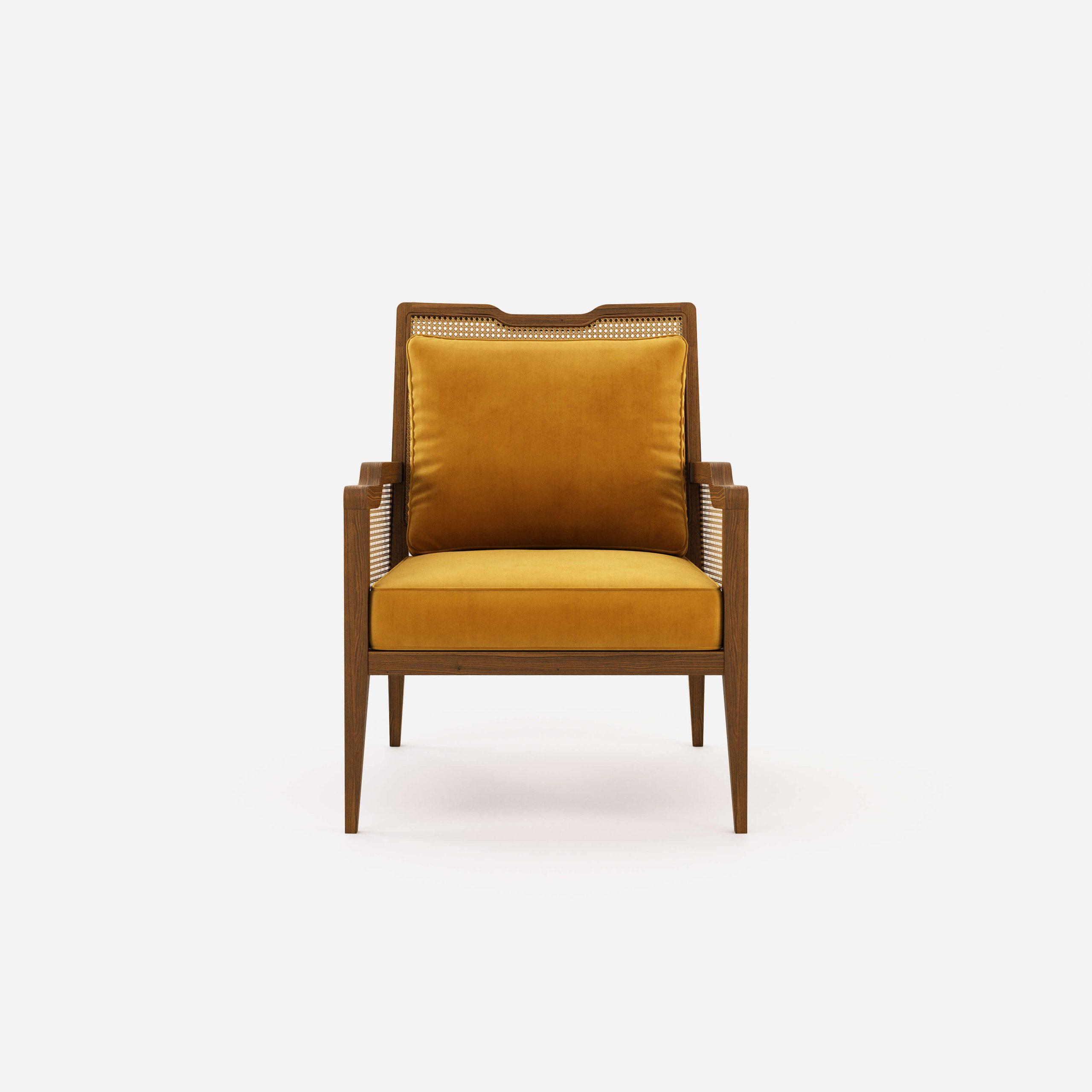 eva-armchair-cotton-velvet-mostaza- natural-woven-work-ash-living-room-home-decor-domkapa-1