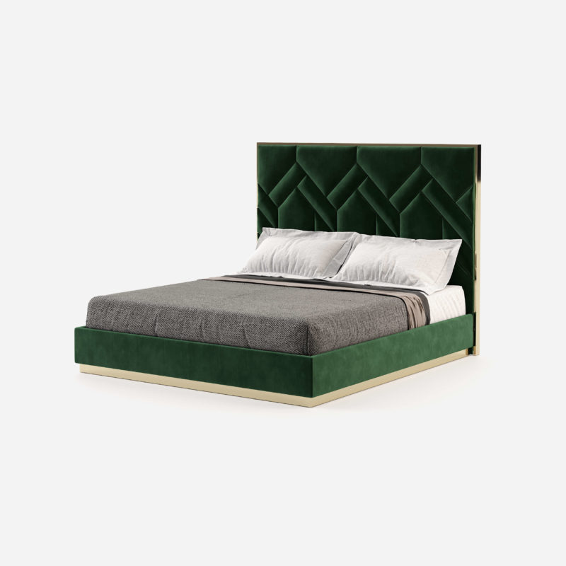 natalie-bed-velvet-headboard-green-geometric-shapes-master-bedroom-projects-hotel-residential-1