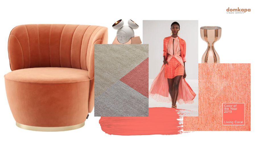 2019 Ultimate Upholstery Trends Living Coral