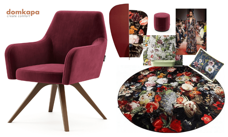 This is the 2019 Ultimate Upholstery Trends: Living Coral. The unique Pantone's Colour of the Year has already influenced numerous creations in the world of interior design, fashion, home furnishing and upholstery, graphic design and others.