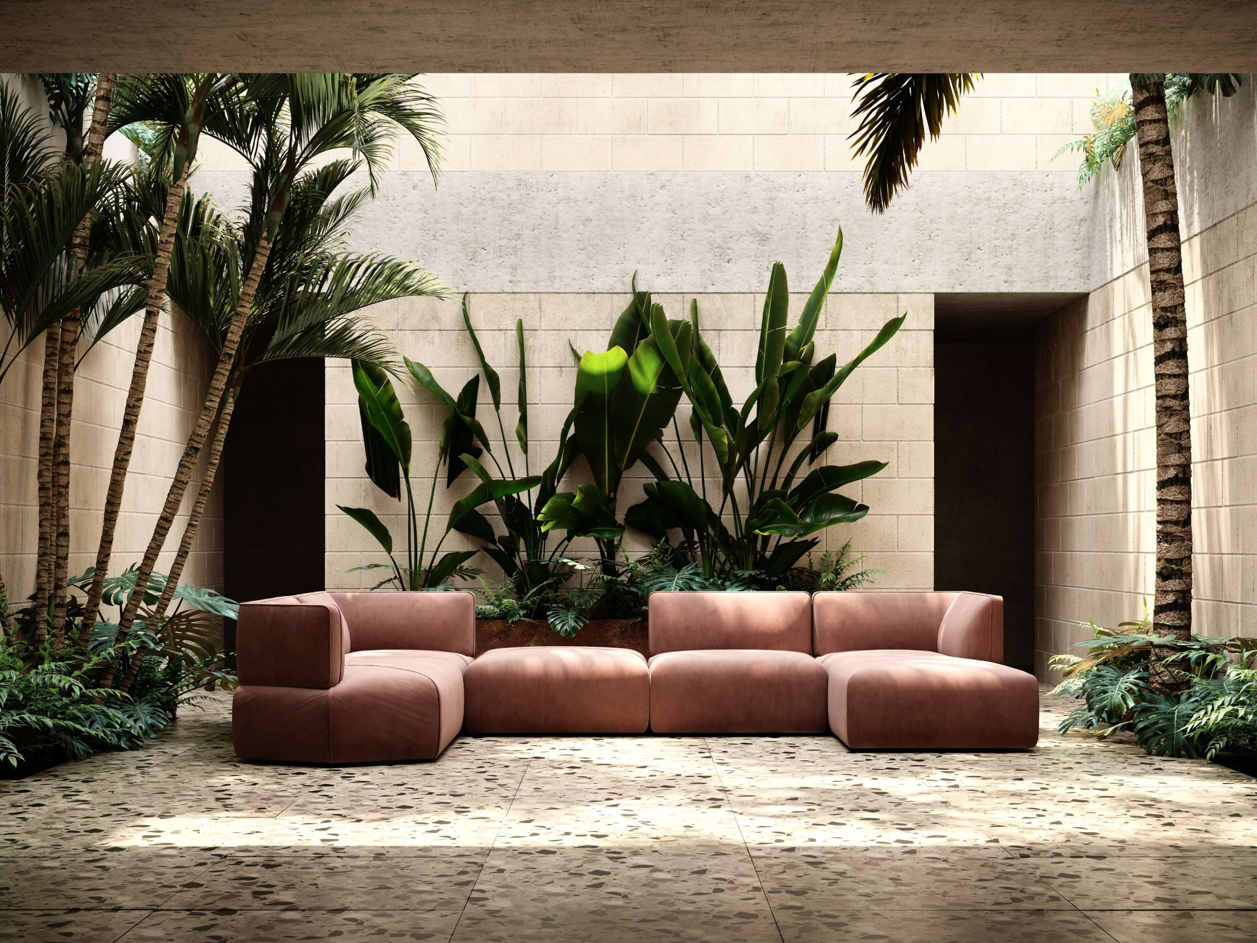 disruption-sofa-salmon-velvet-living-room-seating-pieces-modular-sofa-domkapa