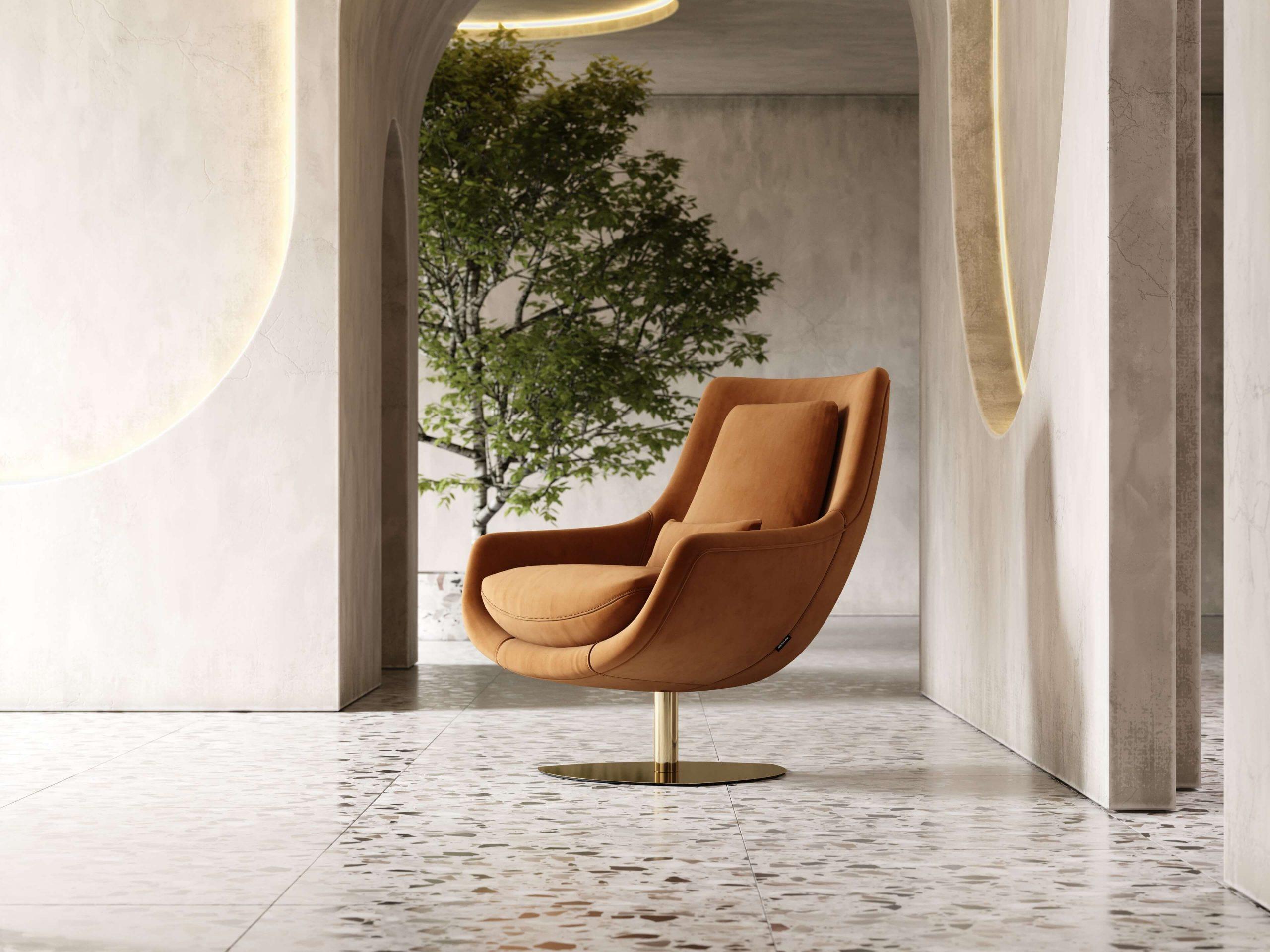 Elba-armchair-cotton-velvet-upholstered-furniture-living-room-interior-design-domkapa-Gold-stainless-steel-8