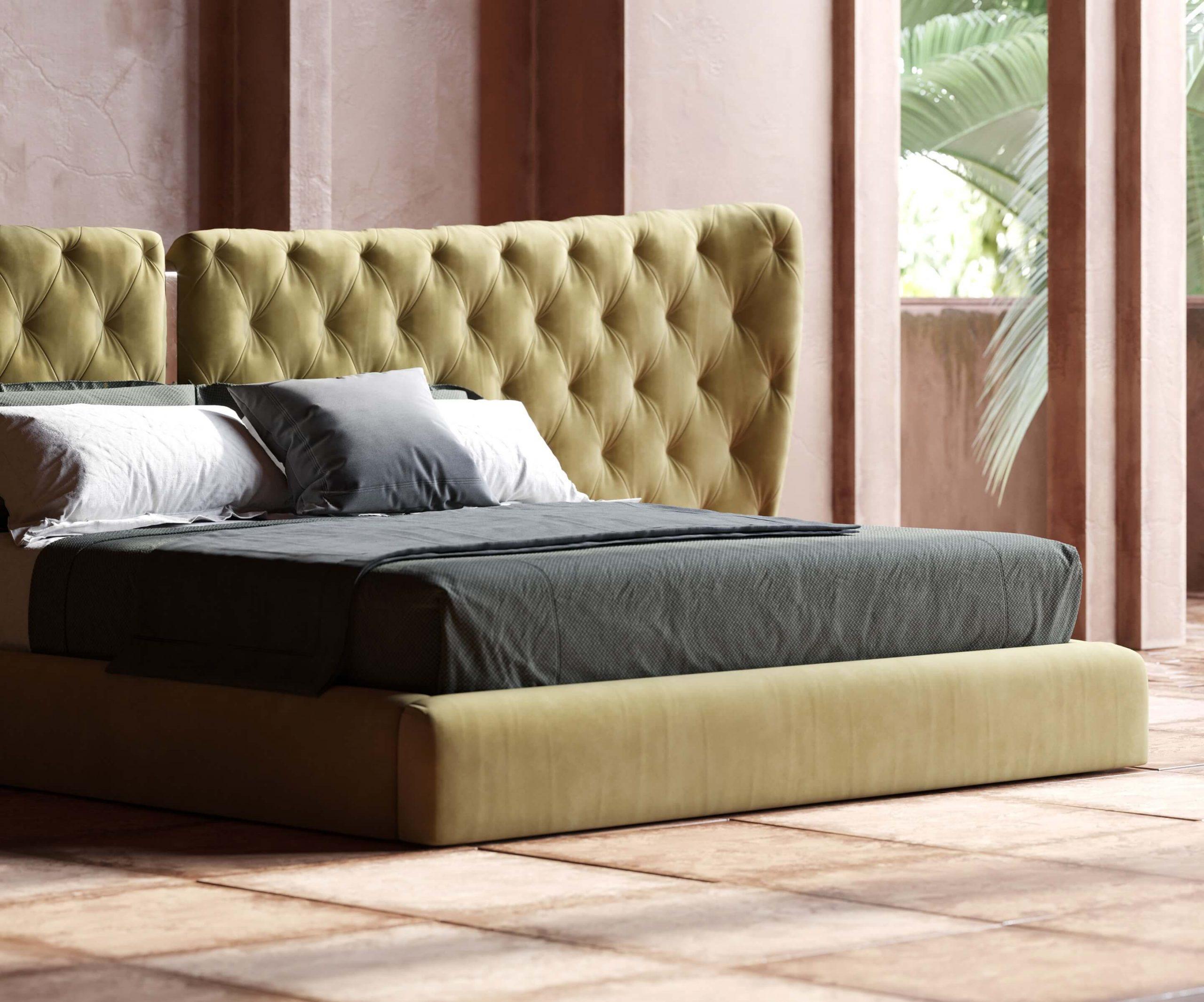 Monroe Bed Velvet Headboard Capitone Master Bedroom Design Decor Domkapa 7 Domkapa