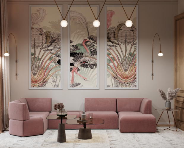 Modern-Home-Project-with-Pink-Sofa-in-Brussels-3