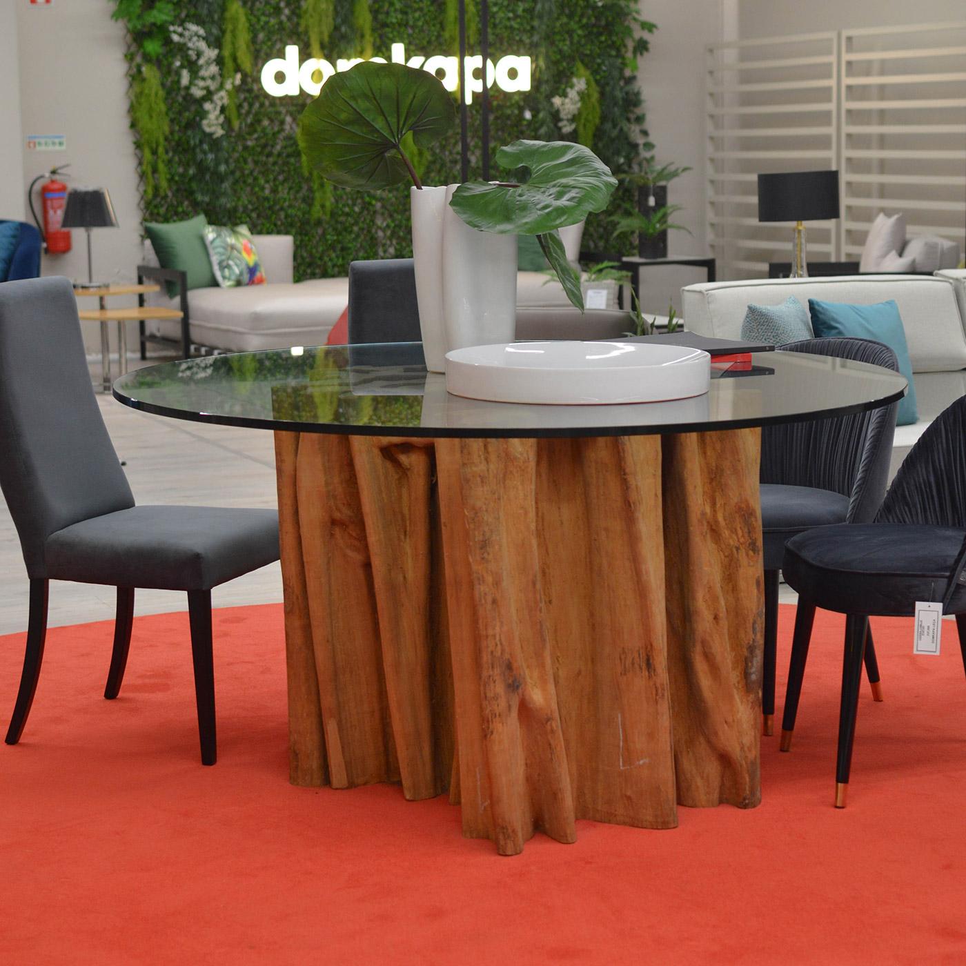 mesa tronco - promoçoes escaldantes - domkapa
